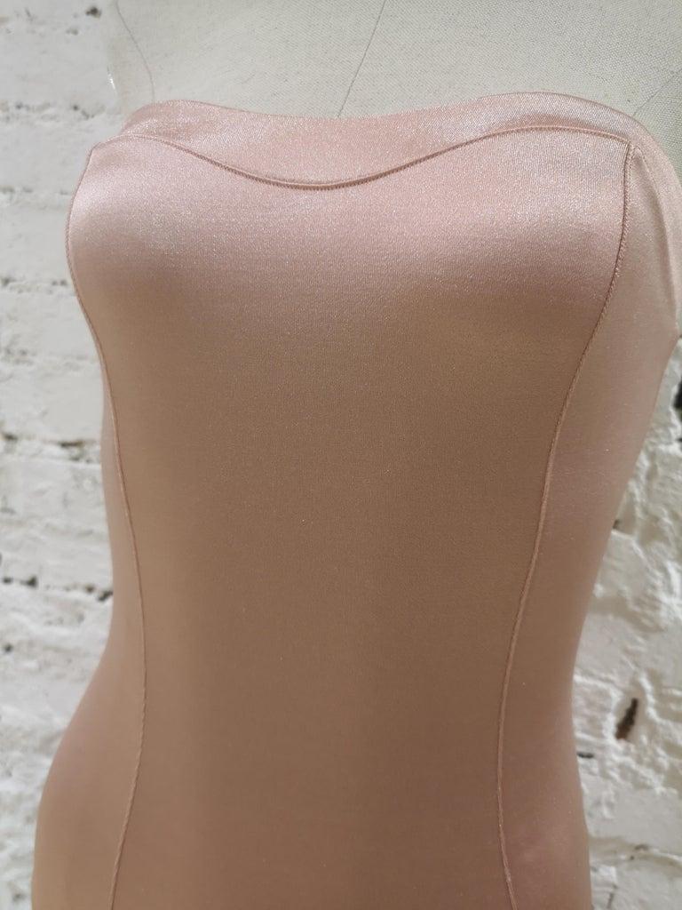 Brown La Perla nude tone dress For Sale