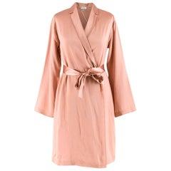 La Perla Pink Silk Satin Short Robe UK 10