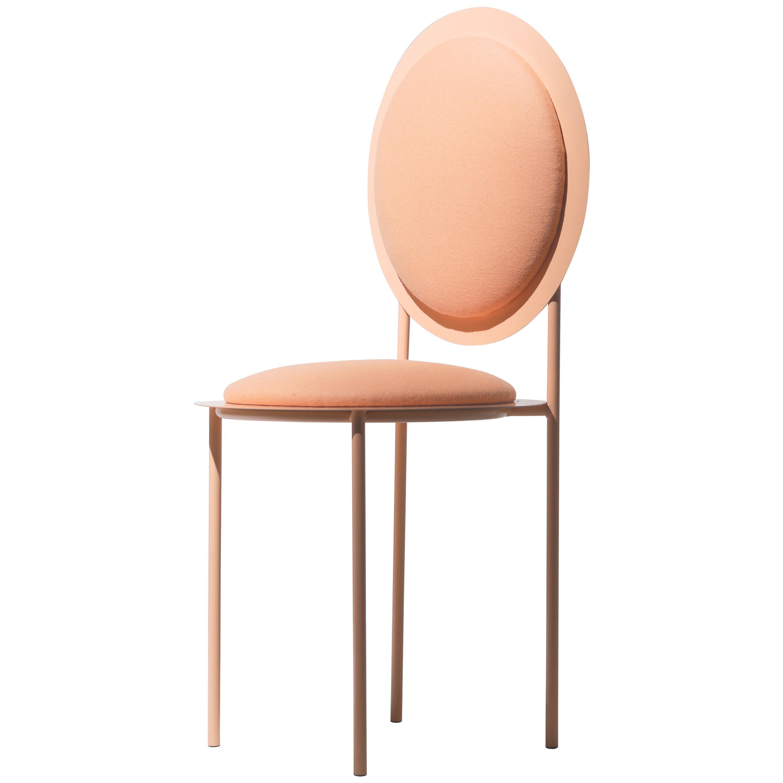 La Prima Minimalistic Chair in Metal and Fabric by Bodegon Cabinet