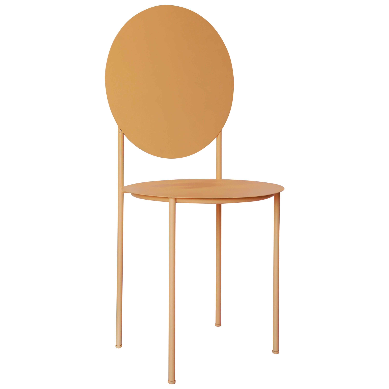 La Prima Minimalistic Chair in Metal by Bodegon Cabinet