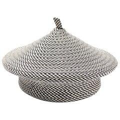 La Sartan Black & White Vintage French Beret Hat