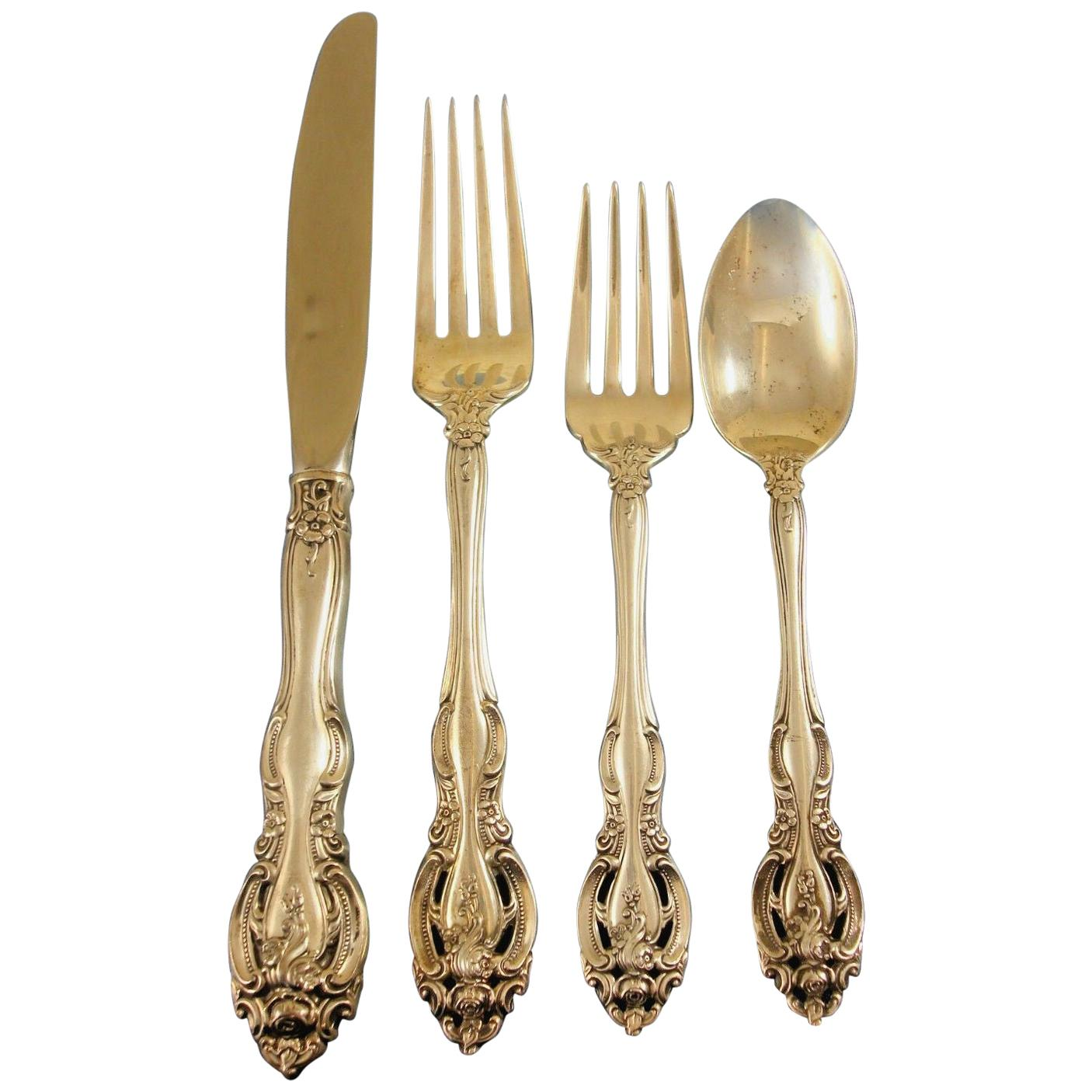 La Scala by Gorham Sterling Silver Flatware Service for 8 Set 32 Pieces