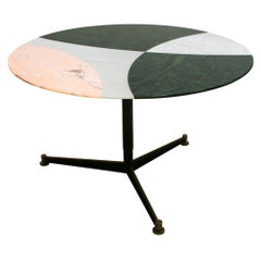 L.A. Studio Contemporary Modern Marble Circular Dining Table