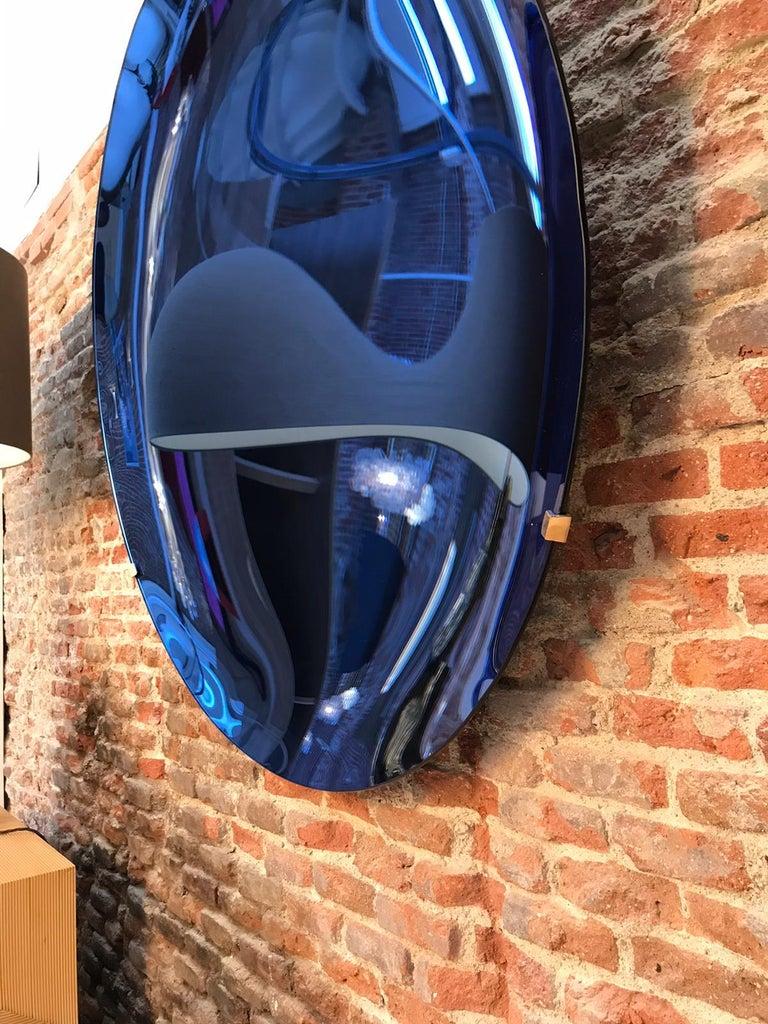 L.A. Studio Contemporary Modern Sculptural Concave Glass Italian Mirror 6