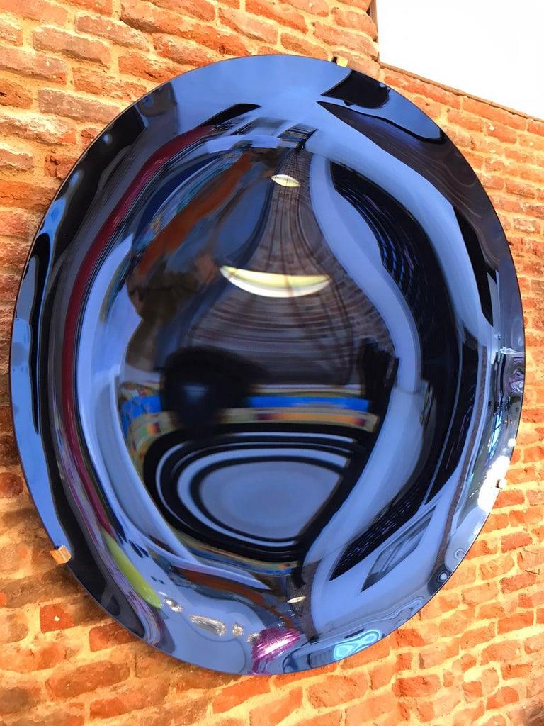 L.A. Studio Contemporary Modern Sculptural Concave Glass Italian Mirror 7