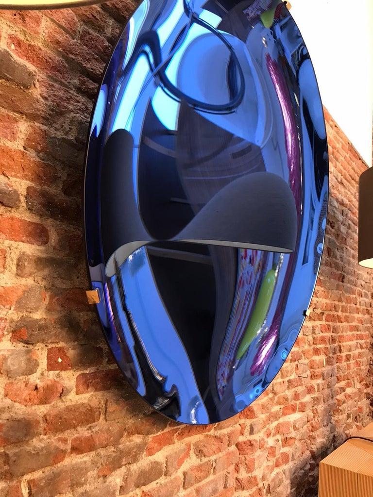 L.A. Studio Contemporary Modern Sculptural Concave Glass Italian Mirror 8