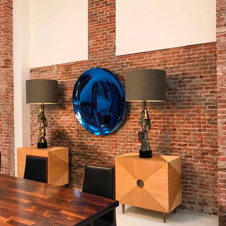 L.A. Studio Contemporary Modern Sculptural Concave Glass Italian Mirror 4