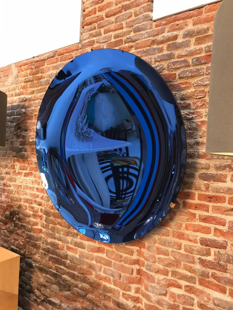 L.A. Studio Contemporary Modern Sculptural Concave Glass Italian Mirror 5