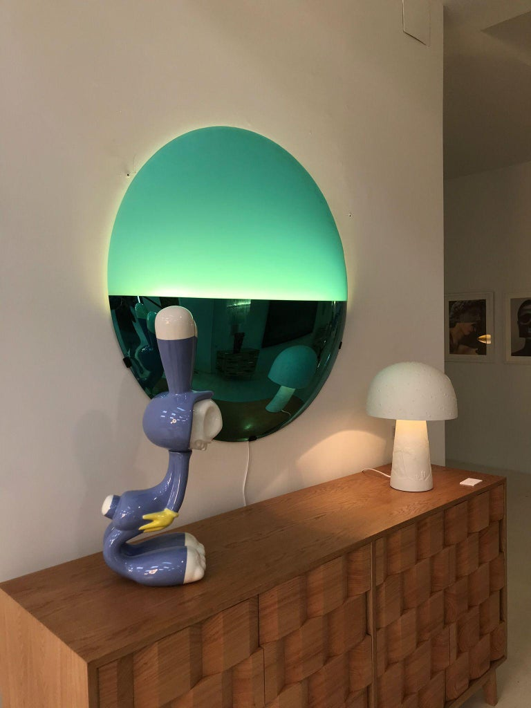 L.A. Studio Contemporary Modern Sculptural Blue Italian Sconce For Sale 5