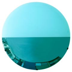 L.A. Studio Contemporary Modern Sculptural Lighted Blue Italian Mirror