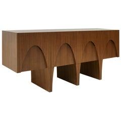 L.A. Studio Contemporary Modern Teak and Lemongrass Wood Sideboard