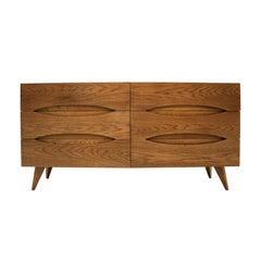 L.A. Studio Midcentury Style Walnut Wood Italian Sideboard
