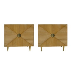 L.A. Studio Pair of Ashwood Sideboards, Italy