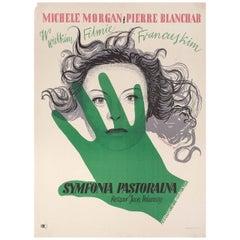 La Symphonie Pastorale R1957 Polish A1 Film Poster