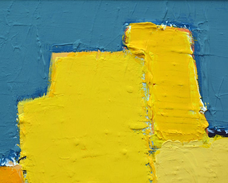 'La Ville Jaune' Original Abstract Painting by Lars Hegelund, 25 x 25 inches. For Sale 2