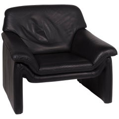 Laauser Atlanta Leather Armchair Black