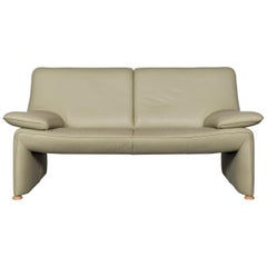 Laauser Flair Designer Sofa Leather Green Two-Seat Couch Modern