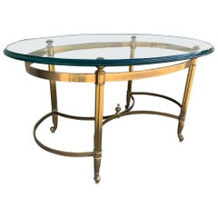 Labarge Brass and Glass Coffee Table Made in Italy