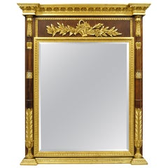Labarge French Louis XV XVI Style Gold Gilt Italian Console Wall Pier Mirror
