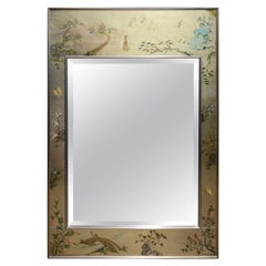 Labarge Gilt Painted Chinoiserie Style Wall Mirror Vintage