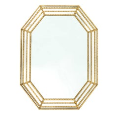 Labarge Gold Faux Bamboo Mirror