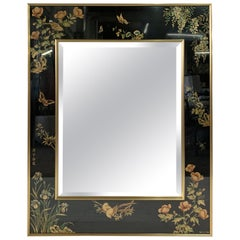 LaBarge Hand Painted Large Églomisé Mirror