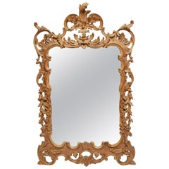 Labarge Italian Hollywood Regency Rococo Style Giltwood Wall Mirror