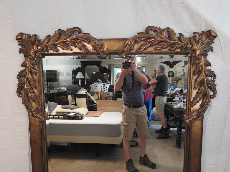 American Labarge Rococo Style Mirror, 20th Century For Sale