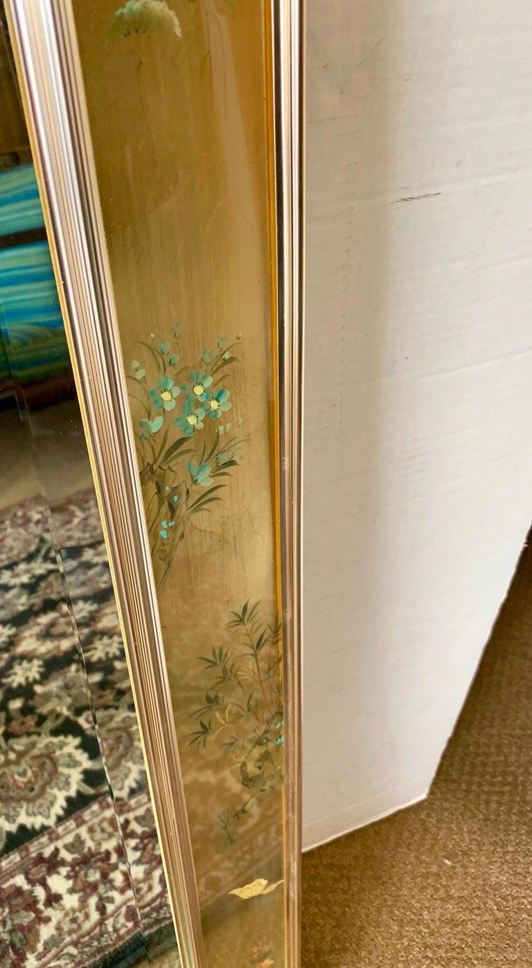 LaBarge Signed Mirror Gold Leaf Eglomise Signed For Sale 5
