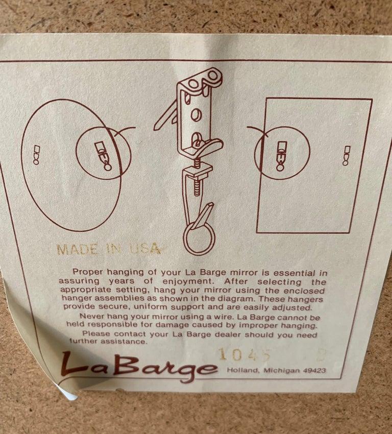 LaBarge Signed Mirror Gold Leaf Eglomise Signed For Sale 6