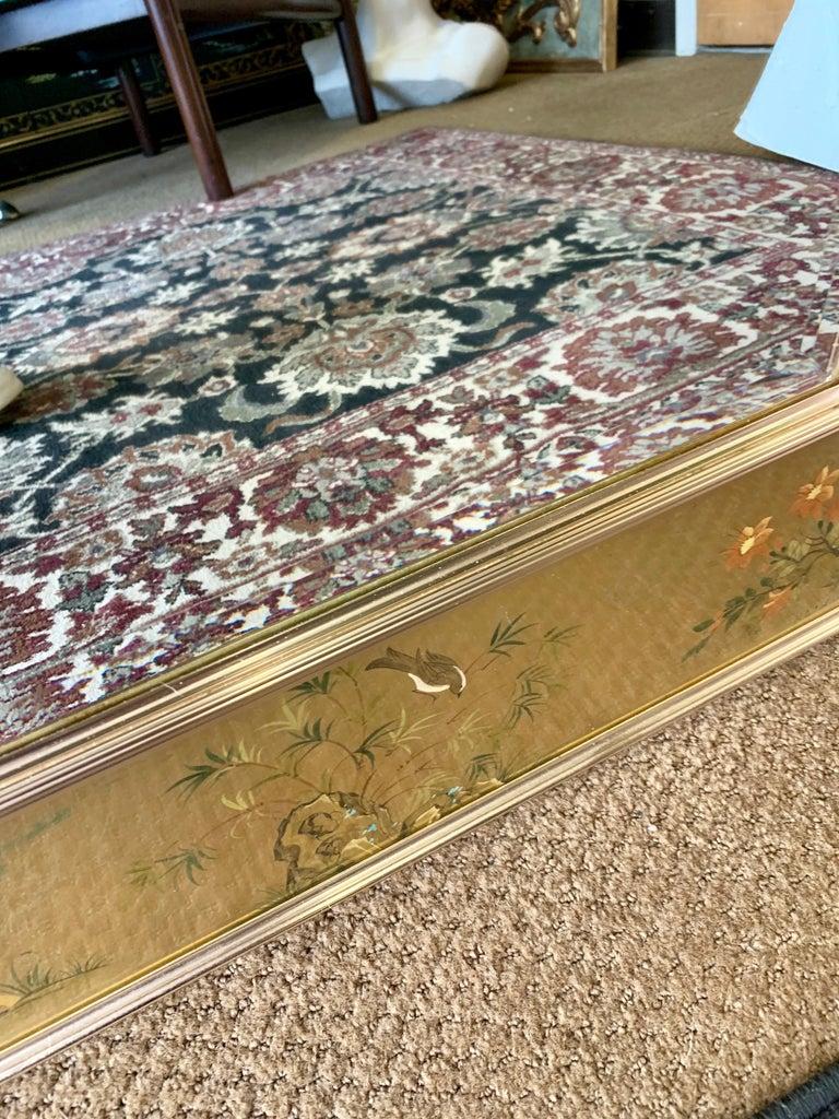 LaBarge Signed Mirror Gold Leaf Eglomise Signed For Sale 3