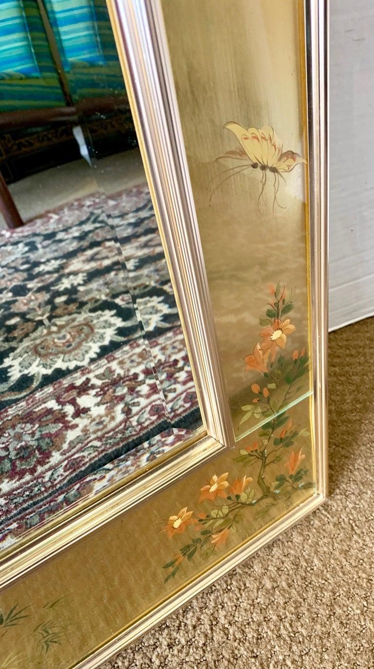LaBarge Signed Mirror Gold Leaf Eglomise Signed For Sale 4