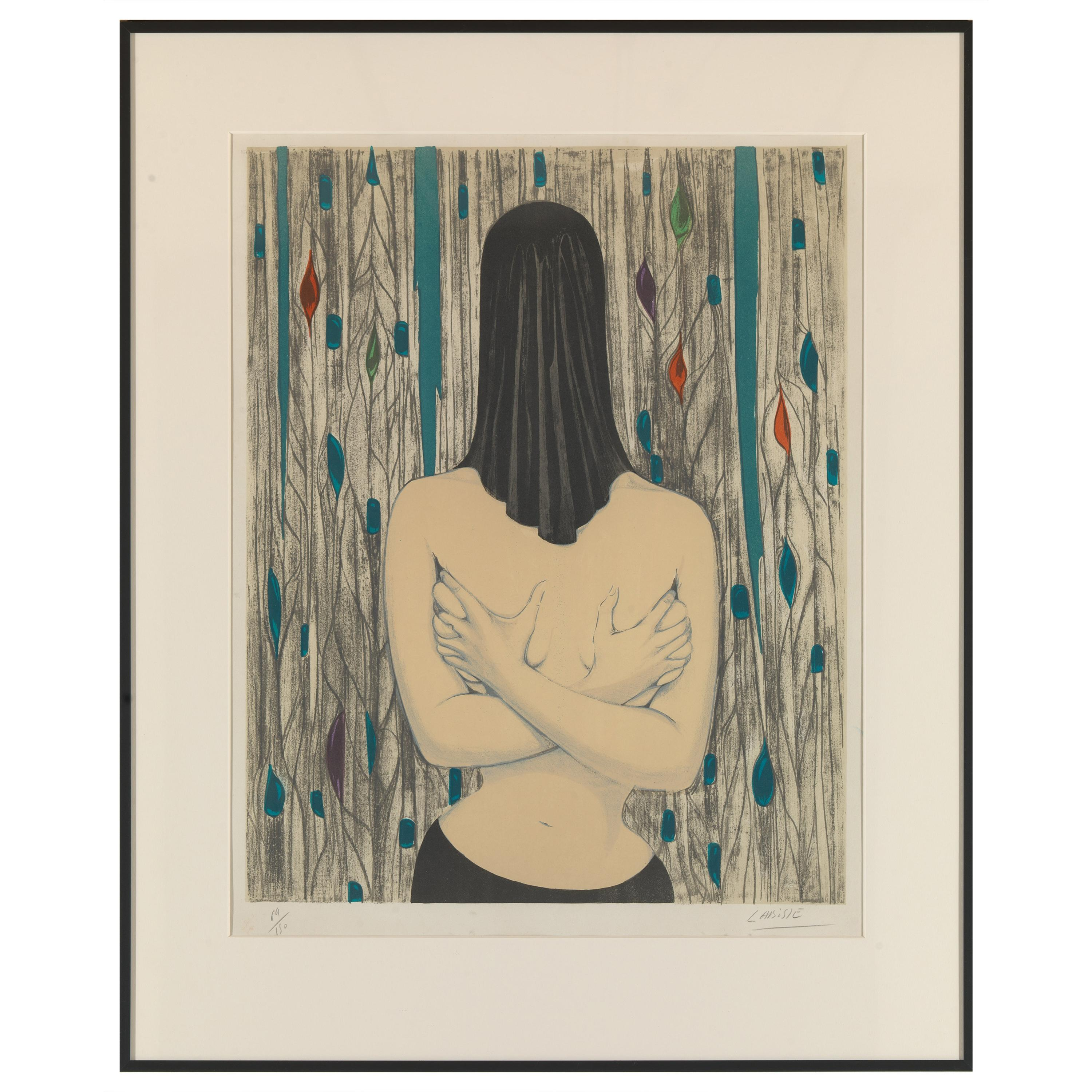 Labisse Félix, Surreal Woman, Lithography, Framed and Signed