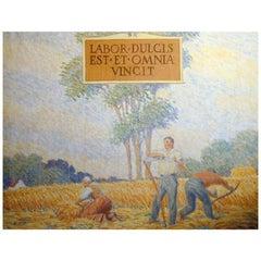"""""""Labor Dulcis,"""" Important Painting by Muralist Milton Bancroft"""