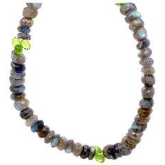 Labradorite with Peridots Necklace