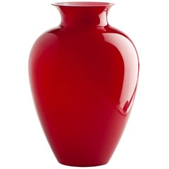 Labuan Glass Vase in Red by Venini