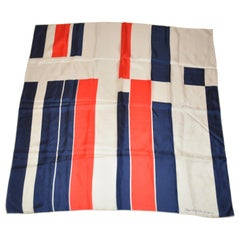 "Labyrinthe Echo Inc., ""Patriotic"" Silk Scarf"
