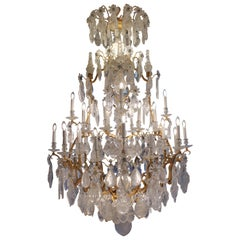 Lacarriere Delatour Important Grand Rock Crystal Chandelier