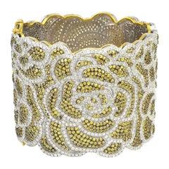 Lace Bracelet 16.53 Carat Diamond Sapphire