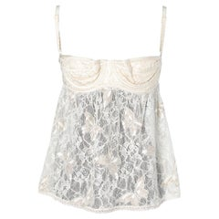 Lace off- white and gold  Bustier D&G by Dolce &Gabbana