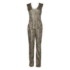 Lace overlay pants and blouse set Gianni Versace