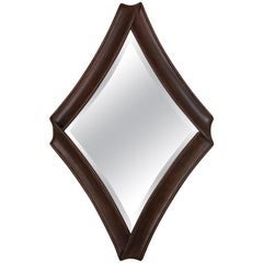 Lacet Mirror in Solid Mahogany Wood