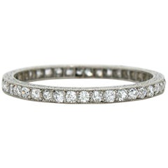 Lacloche Diamond Eternity Wedding Band Ring, circa 1910s
