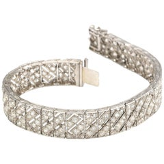 Lacloche Freres Art Deco Diamond and Platinum Bracelet, circa 1930