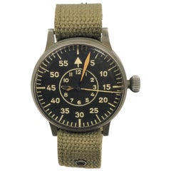 Laco 1940s German Military Pilot Aviators Wristwatch