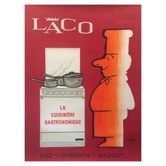 'Laco' by Raymond Savignac, Original Vintage Mid-Century Poster