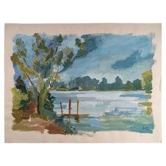 Laconic Landscape, Lake and Countryside