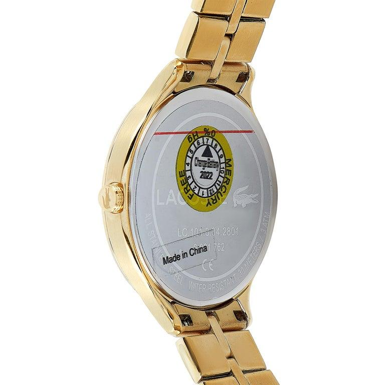 Women's Lacoste Constance Gold-Tone Stainless Steel Watch 2001008 For Sale