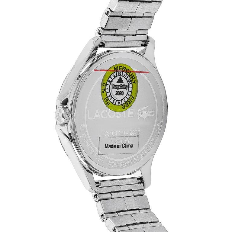 Lacoste Kea Stainless Steel Watch 2001026 In New Condition For Sale In Southhampton, PA