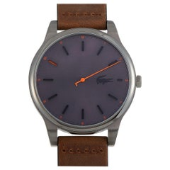 Lacoste Kyoto Stainless Steel Brown Leather Strap Watch 2010968